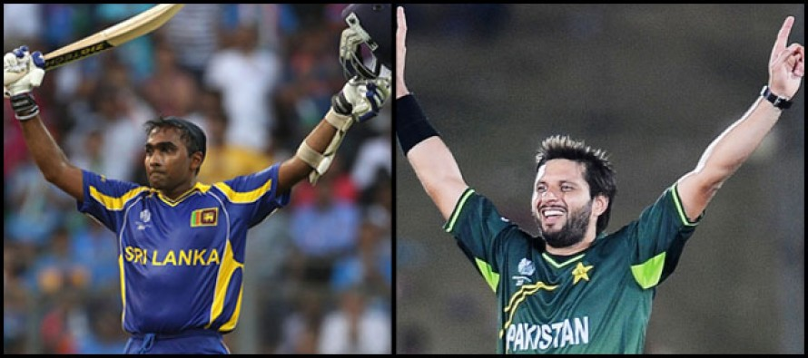 Afridi and Jayawardene set to become most experienced players in World Cup 2015