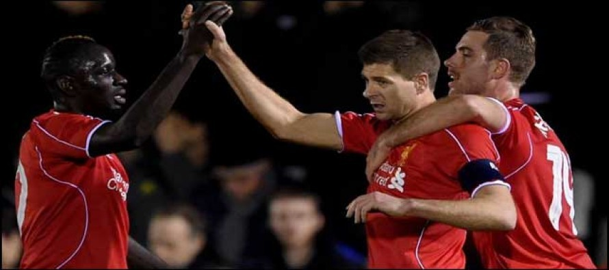 Gerrard double gets Liverpool out of trouble
