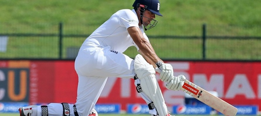 Cook hit half-century as England fight in first Test
