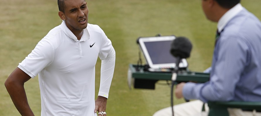 Kyrgios flirts with ban after latest flare-up