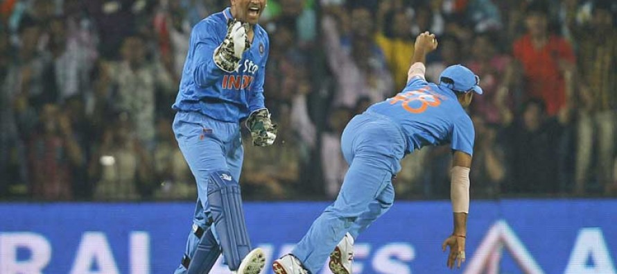 Dhoni inspires India to series-levelling win