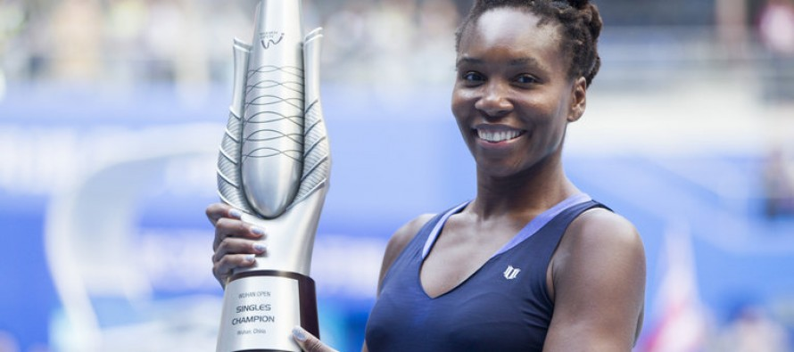 Venus wins Wuhan Open as Muguruza retires