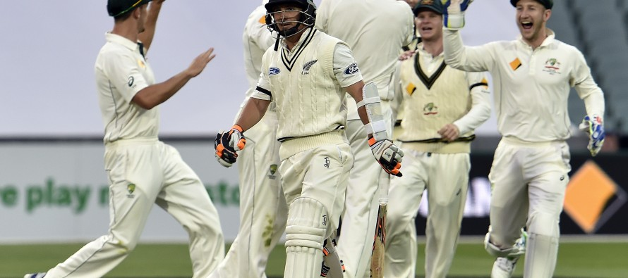 New Zealand all out for 202 in day-night Test