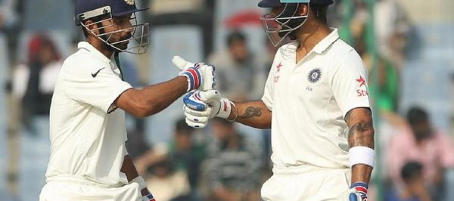 India 116-4 at tea in South Africa Test