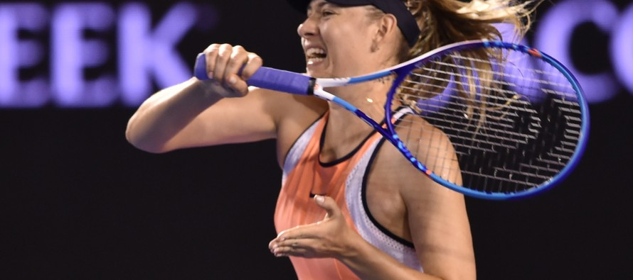 On-song Sharapova sweeps into Open third round