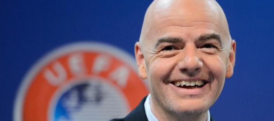UEFA's Infantino to address FIFA bid, new techology