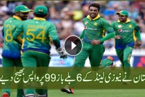 Pak Vs New Zealand 1st ODI 2016 ( New Zealand Fall Of Wickets )