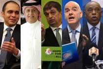 The five FIFA presidential candidates
