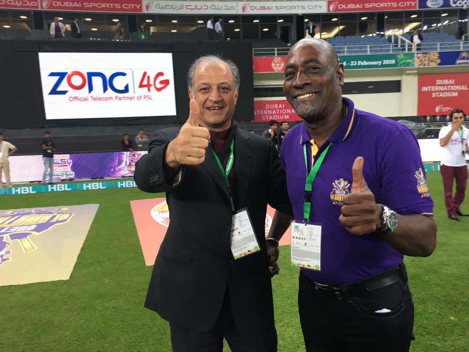 Quetta team owner Nadeem Omar and Sir Viv Richards were ecstatic on their win