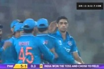 Mohammad Hafeez Wicket – PakvsInd Asia Cup T20