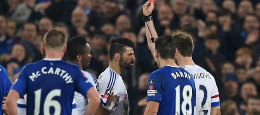 Costa charged over Everton red card row