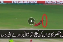 ZEESHAN MAQSOOD TAKES INCREDIBLE CATCH IN WORLD T20