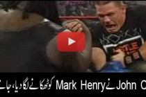 John Cena vs Mark Henry- Arm wrestling