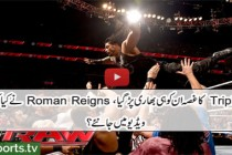 Roman Reigns sparks a chaotic brawl with Triple H: Raw, March 28, 2016