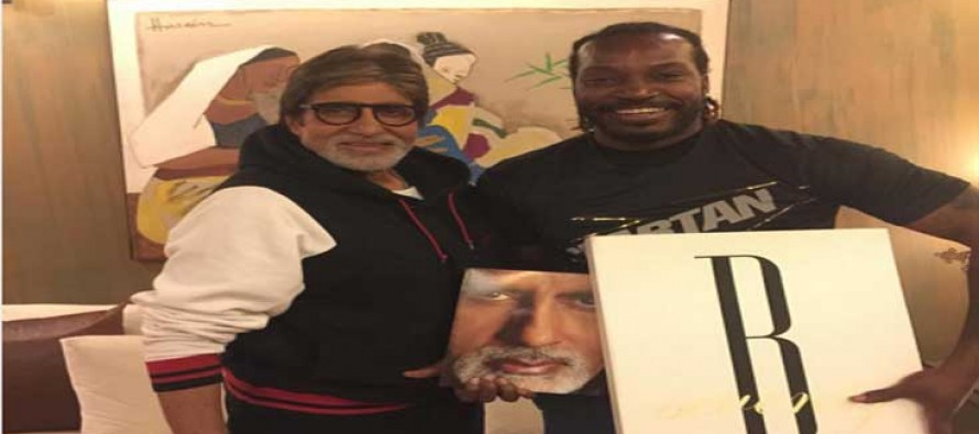 Big B meets Gayle Storm in Mumbai
