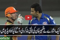 Intense Fight Between Zaheer Khan and David Warner
