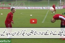 Juggling of the highest order! Thiago, Müller, Costa and Rafiha show us how it's done.