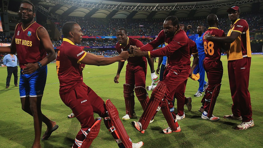 during the ICC World Twenty20 India 2016 Semi-Final match between West Indies and India at the Wankhede Stadium on March 31, 2016 in Mumbai, India.