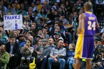 Lakers fans pay emotional farewell to Bryant