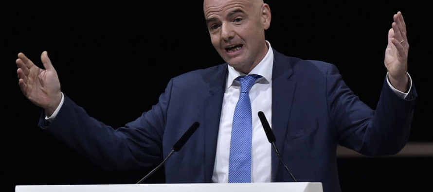 Infantino hopes to see video technology used at 2018 World Cup
