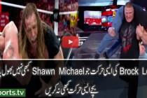 Brock Lesnar Breaks Shawn Michaels Arm – WWE Raw