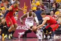 LeBron stars as Cavaliers take series lead over Hawks