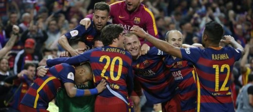 Ten-man Barca claim double with King's Cup win over Sevilla