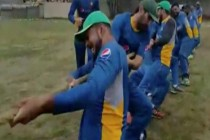 Cricketers pull Pak Army team to pull off a victory in tug of war contest