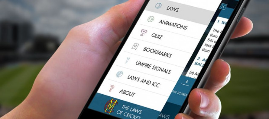 MCC launches 'Laws of Cricket' app