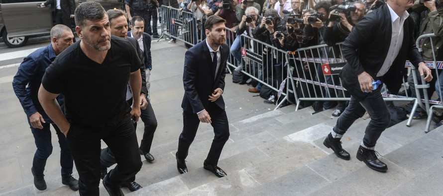 Messi appears in court at tax fraud trial in Spain