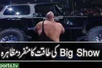 Big Show tipping over a 4,400 pound Jeep!!!
