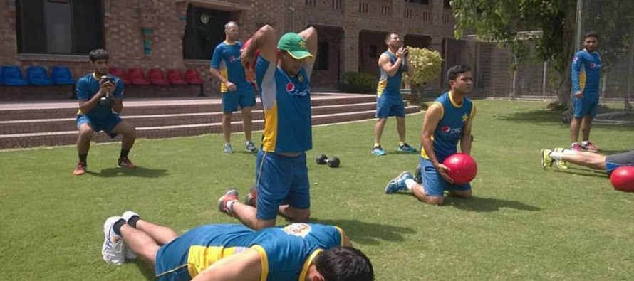 Players practicing for England tour found in high spirits