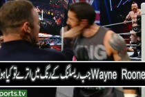 Wayne Rooney appears on Raw, slaps Wade Barret & Cesaro beats Sheamus on Raw