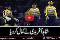 Afridi nails down Sussex with three wickets