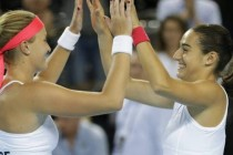 France's Garcia, Mladenovic fire up home crowd in women's doubles win