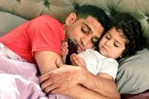 Amir Khan goes the distance on his daughter's second birthday party