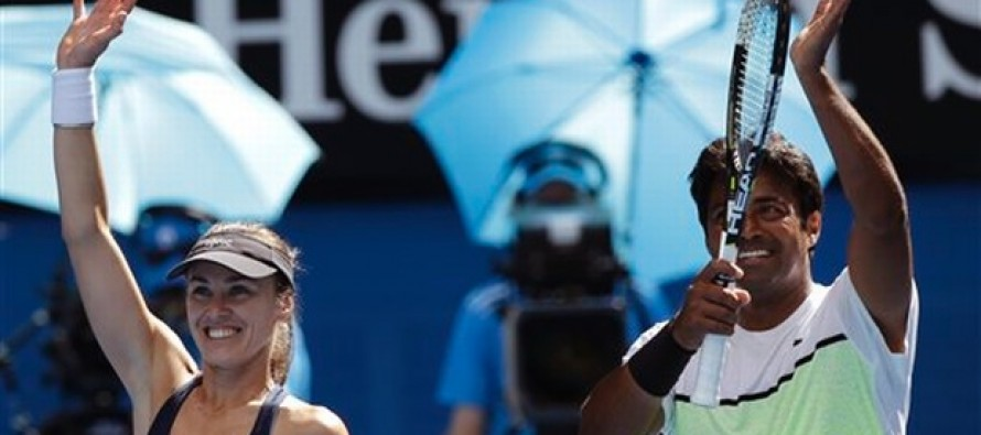 Paes, Hingis complete mixed doubles Slam