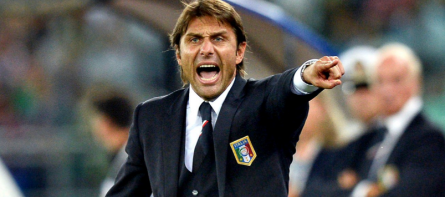 Italy coach Conte still hammering away at his players