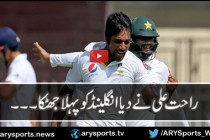 Rahat Ali finds Alex Hales' outside edge