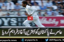 Alex Hales clean bowled by Mohammad Amir