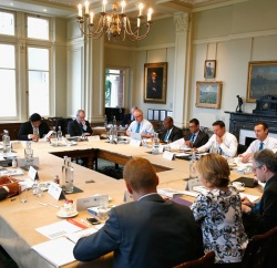 LONDON, ENGLAND - JUNE 01:  The meeting taking place during the ICC Cricket Committee Meeting at Lords on June 1, 2016 in London, England.  (Photo by Christopher Lee/Getty Images)