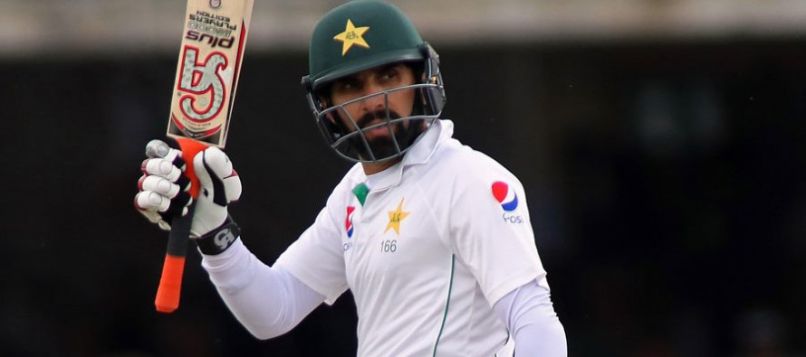 Misbah leads from the front at Lord's