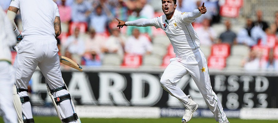 Amir changes 'no-ball' chants into stunned silence