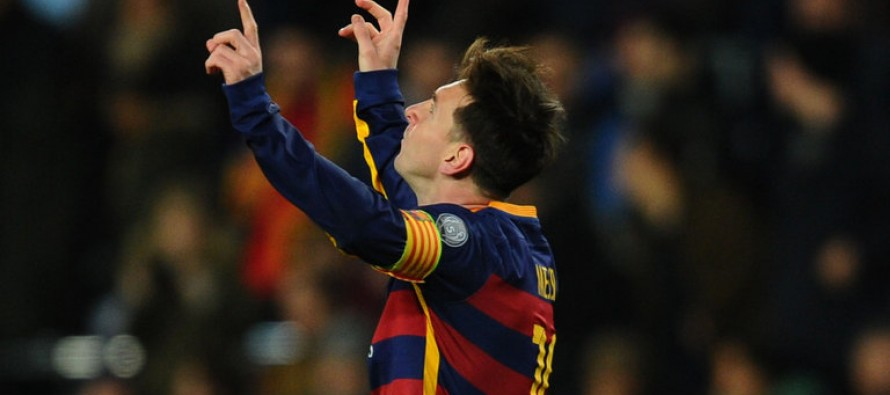 Messi's goal in contention for UEFA Goal of the Season