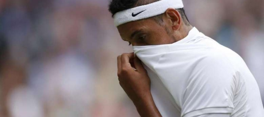 'Pathetic' says Kyrgios after surly Wimbledon exit