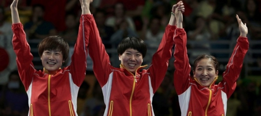 Women's team put China on verge of table tennis cleansweep