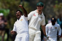 Aussies out for record low after Herath heroics