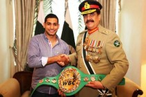 Army Chief gets honorary championship belt from WBC