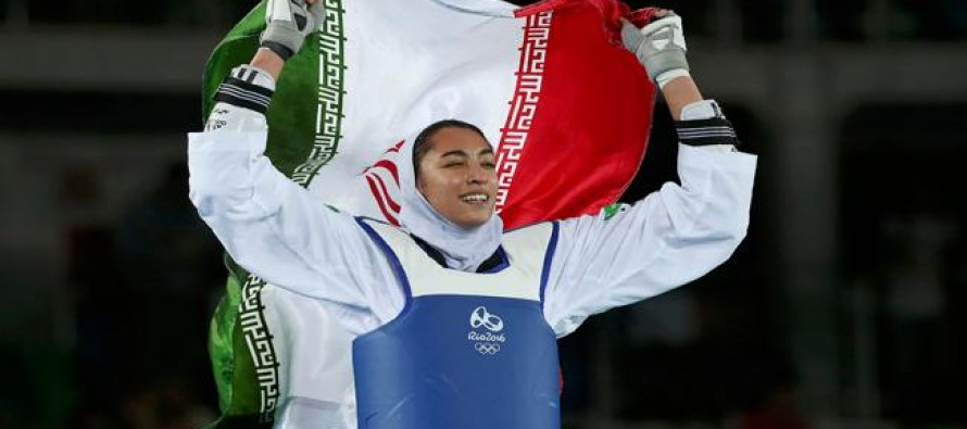 Teenager Alizadeh wins first women's medal for Iran