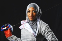 Hijab-wearing US fencer exits with head held high
